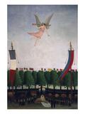 Die Freiheit Laedt die Kuenstler Zum 22. Salon Der Unabhaengigen Ein, 1906 Giclee-vedos tekijänä Henri Rousseau