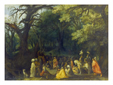 The Sermon of John the Baptist Giclee Print by Adriaen van Stalbemt