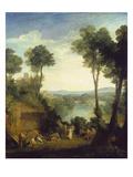 Merkurius Und Herse Print by Joseph Mallord William Turner