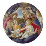 Mary with Child and Five Angels (Madonna Del Magnificat). Tondo, about 1481 Giclee Print by Sandro Botticelli