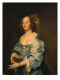 Maria Ruthven, the Artist's Wife, about 1639 Prints by Anthonis van Dyck