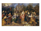 The Parable of the Wise and Foolish Virgins, 1616 Giclee Print by Frans II the Younger Francken