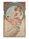 The Arts: Painting, 1898 Art by Alphonse Mucha