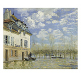 Ueberschwemmung in Port-Marly (Das Boot) 1876 Print by Alfred Sisley