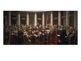 Feierliche Sitzung Des Zaristischen Kronrates Print by Ilya Efimovich Repin