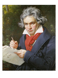 Portrait Ludwig Van Beethoven While Composing Missa Solemnis, Bonn Prints by Joseph Karl Stieler