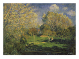 The Garden of Monsieur Hoschedé in Montgeron, 1881 Giclee Print by Alfred Sisley