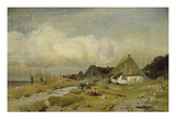 Coast with Fishermen and Fishermen's Houses Giclee Print by Gustaf Fredrik Rydberg