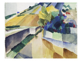 Vineyard at Lake Murten, 1914 Giclee Print by Auguste Macke