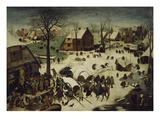 The Census at Bethlehem, 1566 Giclée-tryk af Pieter Bruegel the Elder