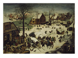 The Census at Bethlehem, 1566 Gicléetryck av Pieter Bruegel the Elder