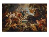 Die Jagd des Meleager Und Der Atalante, um 1615/20 Kunst von Peter Paul Rubens