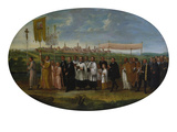 Transfer of the Wonder Host of Benningen (With View of Memmingen from the South-East) Giclee Print by Johann Friedrich Sichelbein