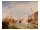 Venice, Dogana and S. Giorgio Maggiore Poster von J. M. W. Turner