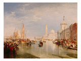 Venice, Dogana and S. Giorgio Maggiore Posters by Joseph Mallord William Turner