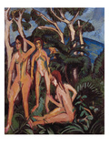 Bathers under Trees, 1913 Posters by Ernst Ludwig Kirchner