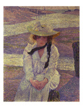Young Woman on the Banks of the Greve River, 1901 Art by Theo van Rysselberghe