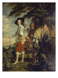 Charles I. of England During a Hunting Excursion, about 1635 Posters by Anthonis van Dyck
