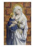 Maria Mit dem Kinde. Detail: Dreiviertelfigur Poster by  Master of Flemalle