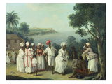 Natives Dancing in the Island of Dominica, Fort Young Beyond Posters by Agostino Brunias