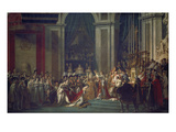 Kroenung Napoleons I. Und Josephines in Notre Dame Paris Mit Papst Pius Vii Giclee Print by Jacques-Louis David