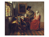 The Glass of Wine, about 1660/61 Gicl&#233;e-Druck von Jan Vermeer