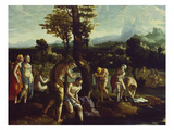 The Baptism of Christ Giclee Print by Jan van Scorel