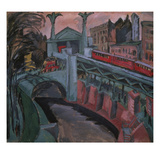 The Hallesche Tor, Berlin Giclee Print by Ernst Ludwig Kirchner