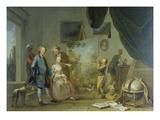Besuch Im Maler-Atelier. Vor 1767 Prints by Norbert Jospeh Carl Grund
