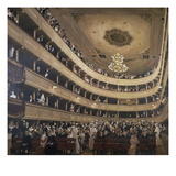 The Auditorium of the Old Castle Theatre, 1887/88 Prints by Gustav Klimt