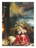 Isenheimer Altar. Zweite Schauseite, Mittelbild, Rechte Haelfte: die Jungfrau Poster by Matthias Grünewald