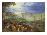 Fischmarkt Am Ufer Eines Flusses, 1605 Giclee Print by Jan Brueghel the Elder