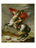 Napoleon Crossing the Alps Affischer av Jacques Louis David