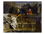 Susanna Bathing Giclee Print by Domenichino Domenico Zampieri