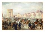 Einzug Der Deutschen Truppen Mit Bismarck in Paris Am 3.Maerz 1871 Giclee Print by Louis Braun