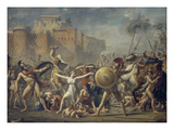 Combat Between Sabines and Romans (The Sabine Women), 1799 Giclee Print by Jacques-Louis David