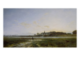 Die Theresienwiese Mit Der Bavaria in Abendstimmung, 1882 Giclee Print by Adolf Heinrich Lier