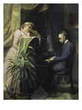 At the Piano (Verner Von Heidenstam), 1891 Print by Emma Sparre