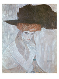 Woman with Black Feather Hat, 1910 Reproduction procédé giclée par Gustav Klimt