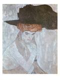 Woman with Black Feather Hat, 1910 Giclée-Druck von Gustav Klimt
