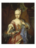 Portrait of Maria Theresia at the Age of Six, 1723 Giclee Print by Adam Manyoki