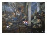 Die Pest in Venedig, 1666 Giclée-tryk af Antonio Zanchi