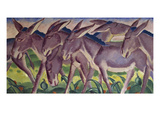 Frieze of Donkeys, 1911 Reproduction procédé giclée par Franz Marc