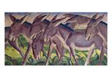 Frieze of Donkeys, 1911 Giclée-tryk af Franz Marc