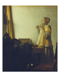 Young Woman with a Pearl Necklace, about 1662/65 Giclee Print by Jan Vermeer