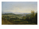 View on Dietramszell. Ante 1818 Giclee Print by Johann Georg von Dillis