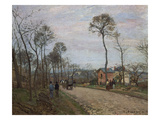 The Road of Louvecienne, 1870 Poster di Camille Pissarro