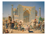 Ein Fest in Samarkand, 1872 Giclee Print by Wassili Werestschagin