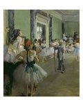 The Dancing Class, about 1873/1876 Giclee Print by Edgar Degas