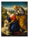 The Holy Family with a Lamb, 1507 Gicléedruk van Raphael,